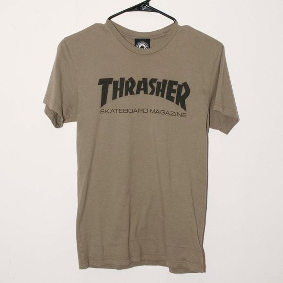 400e6e9e8ec1 Thrasher Skate Mag Olive Boyfriend Fit T-Shirt. M_5c340beffe5151ce101b01bc